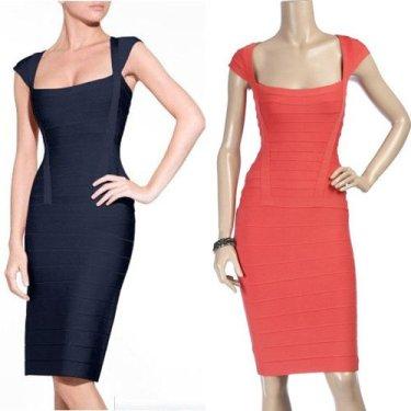 Women-s-Dark-Navy-Knit-Bandage-Dress-Vest-Cocktail-Party-Evening-Dresses-Wholesale-Free-Shipping-HL7